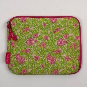 Lilly Pulitzer Green Floral Print Tablet Cover